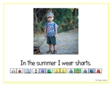 """LAMP AAC book- """"In the Summer"""""""