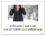 """LAMP AAC book- """"In the Winter"""""""