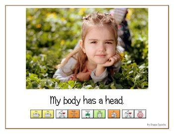 "LAMP AAC book- ""My Body"""