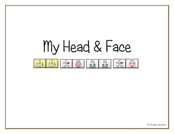 "LAMP AAC book- ""My Head & Face"""