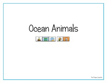"LAMP AAC book- ""Ocean Animals"""
