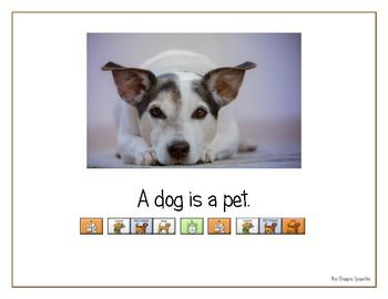 "LAMP AAC book- ""Pets"""
