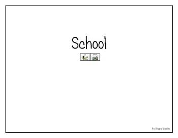 "LAMP AAC book- ""School"""