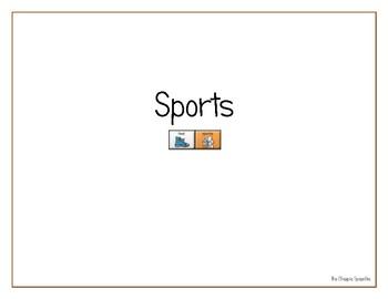 "LAMP AAC book- ""Sports"""