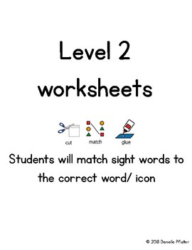 LAMP WFL Level 2 Sight Words Worksheets
