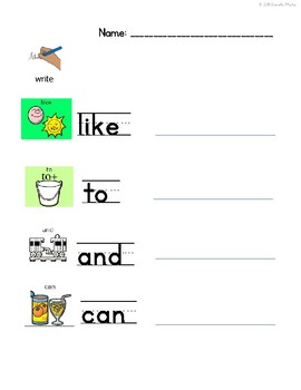 LAMP WFL Level 4 Sight Words Worksheets
