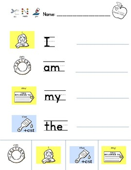 LAMP Words for Life Sight Words Activities PREVIEW