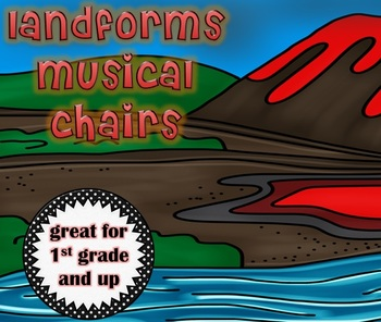 LAND FORMS Musical Chairs Game