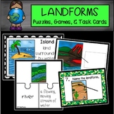 LANDFORMS  Posters, Games, Task Cards and Puzzles