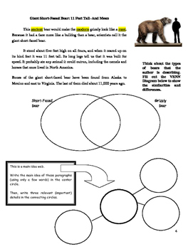 LAND OF GIANTS INFORMATIONAL TEXT W/\CLOSE READING (FCAT FSA PARCC COMMON CORE)