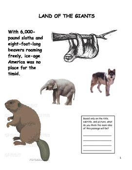 LAND OF GIANTS INFORMATIONAL TEXT W/\CLOSE READING (FCAT F