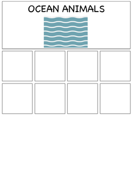 LAND VS. OCEAN ANIMAL CATEGORY SORT