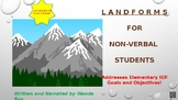 LANDFORMS FOR  NON-VERBAL STUDENTS