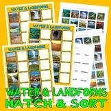 LANDFORMS MaTcH & SoRt w/ 40 PECS Cards : instant digital download speech autism