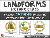 LANDFORMS Vocabulary & Picture Cards Social Studies Kindergarten or First Grade