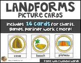 LANDFORMS Vocabulary & Picture Cards Social Studies Kindergarten or First Grade