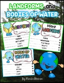 LANDFORMS and BODIES OF WATER {Flipbooks and Presentations}