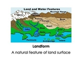 LANFORMS AND WATER VOCABULARY