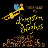 LANGSTON HUGHES DREAMS POETRY ANALYSIS-- HARLEM RENAISSANCE UNIT