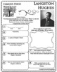 LANGSTON HUGHES Poet WebQuest Research Project Poetry Biography Notes
