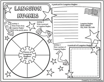 LANGSTON HUGHES Timeline Poster Acrostic Poem Differentiated Activities