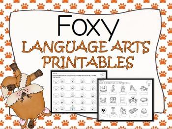 FOXY Language Arts NO PREP Printables