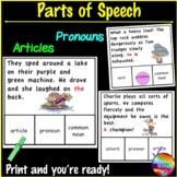 Identifying PARTS OF SPEECH Activities SET 2