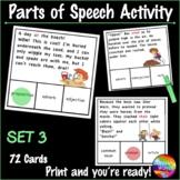 Identifying PARTS OF SPEECH Center Activities SET 3