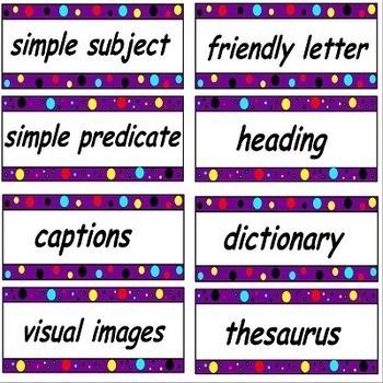 3rd Grade Common Core ELA Word Wall Set