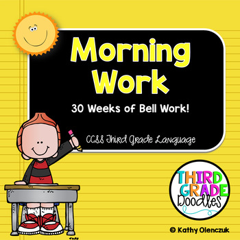 Third Grade Common Core Language Standards -- Morning Work for All Year