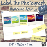 LANGUAGE OF TIME Parts of the Day Name and Picture Match P