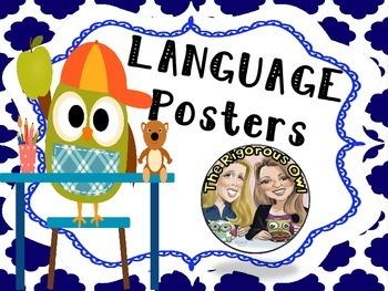 4th Grade Language Grammar Anchor Charts Owl Themed