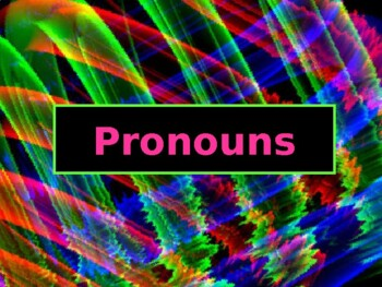 ELA PRONOUNS Subject, Object, Possessive, & Reflexive PowerPoint PPT