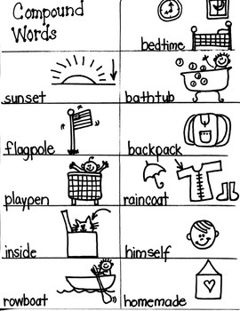 LANGUAGE TARGET:  COMPOUND WORDS  for  FIRST GRADE ARTISTS
