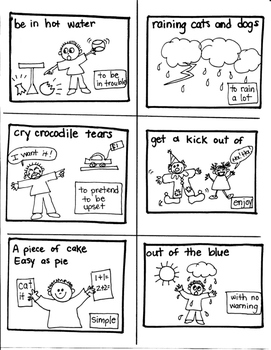 LANGUAGE TARGET:  IDIOMS for CREATIVE WRITERS and YOUNG ARTISTS