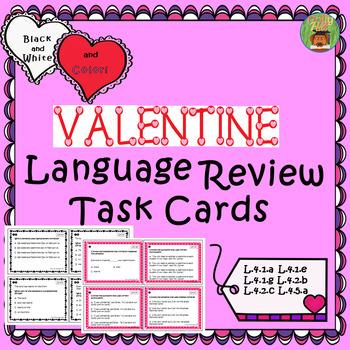 LANGUAGE TASK CARDS {VALENTINE THEME}