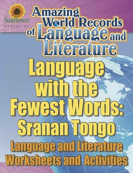 LANGUAGE WITH THE FEWEST WORDS: SRANAN TONGO—Language Worksheets & Activities