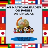 LANGUAGES AND COUNTRIES BINGO GAME IN PORTUGUESE