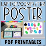 LAPTOP AND COMPUTER RULES POSTER