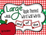 Apple Themed Word Wall Words