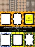 LARGE - Background and Border Earth Tones Shapes Bundle