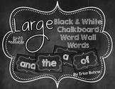 Black & White Chalkboard Word Wall Words