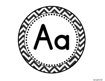 LARGE Black and White Chevron Word Wall Headers {Two Size Choices}