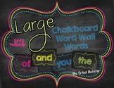 Bright Chalkboard Word Wall Words