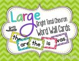 Bright Tonal Chevron Word Wall Words