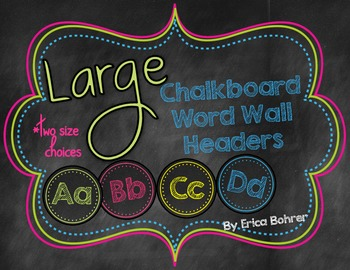 Chalkboard Wall Headers {Two Size Choices}