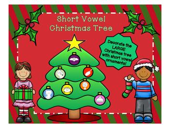 LARGE Christmas Tree Short Vowel Ornament Sort