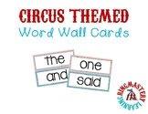 LARGE! Circus-Themed Word Wall Cards