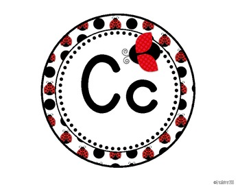 Ladybug Print Word Wall Headers {Two Size Choices}