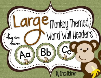 Monkey Themed Wall Headers {Two Size Choices}
